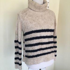 Madewell Mariner Stripe Turtleneck Sweater XS